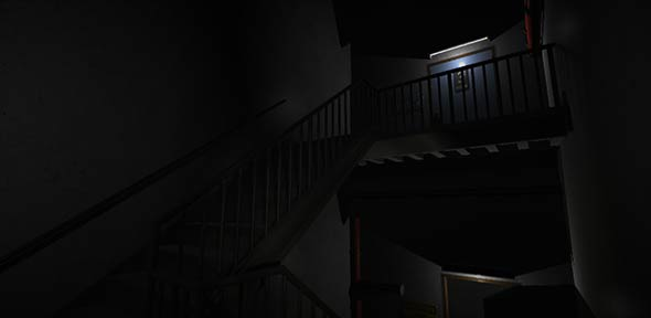 image of stairwell from Contentiously