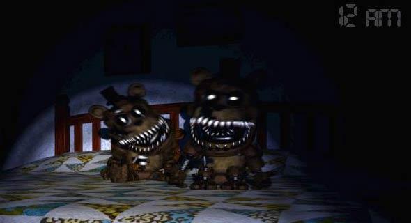 Five nights at freddys 4 freddys on bed jpg