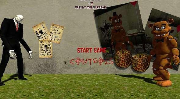 freddy fazbear vs slenderman third person horror game