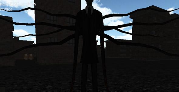 Original Slender-man figure sloseup