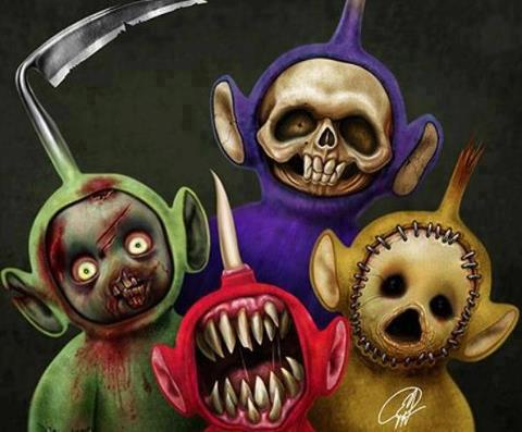 Slendytubbies DarkHorrorGames - Teletubbies in black and white is terrifying