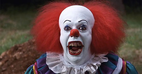 image of Stephen King IT scary clown...