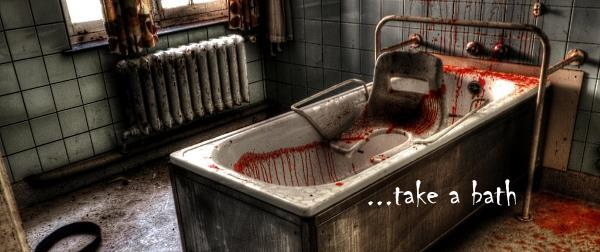 image of taking a horror bath